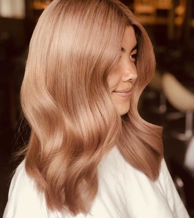 hair color living coral
