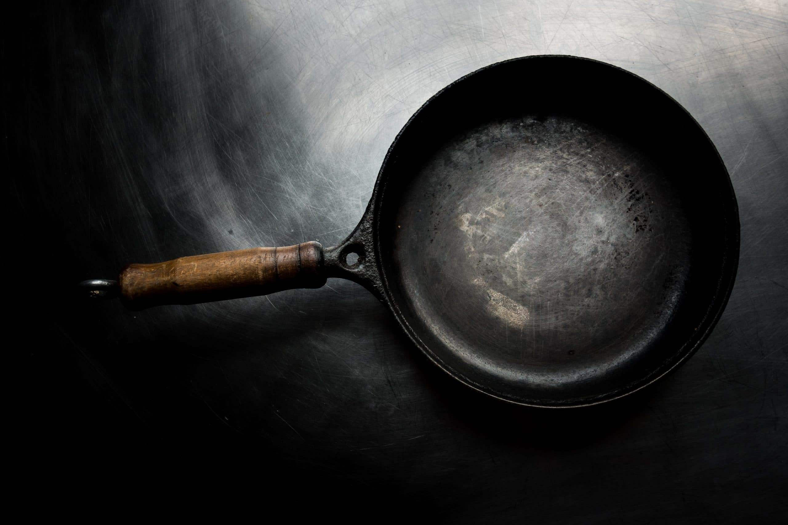How to clean burnt-on grease off your frying pan