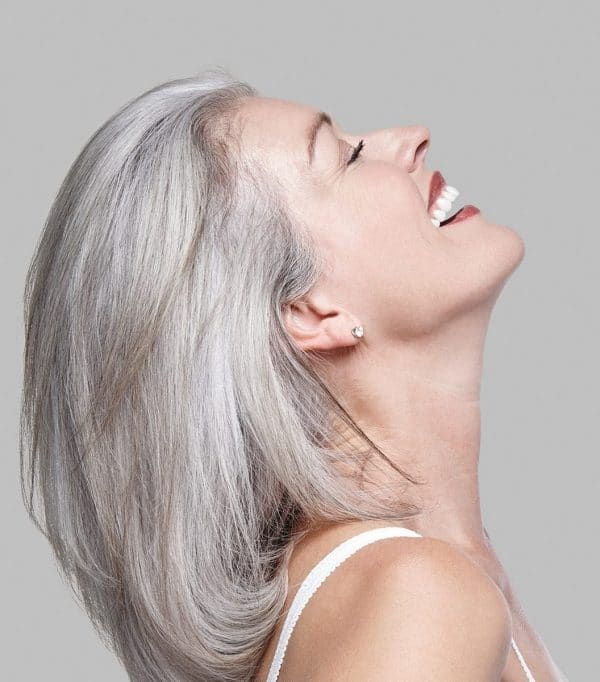 how to make gray hair smooth and shiny