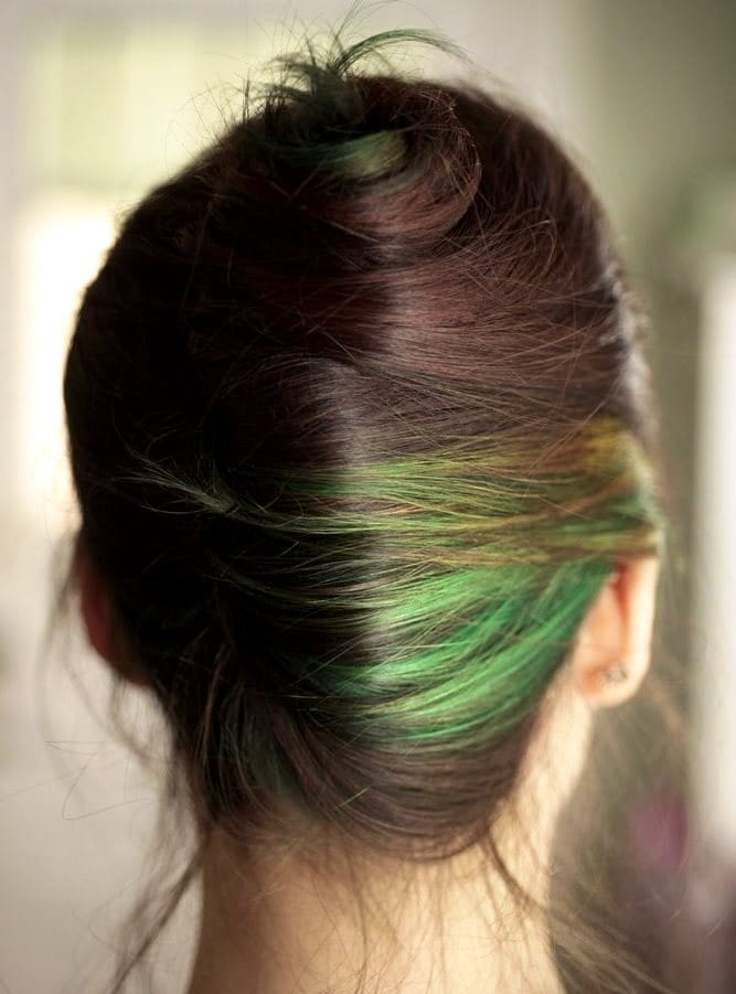 dying over green hair or teal green hair
