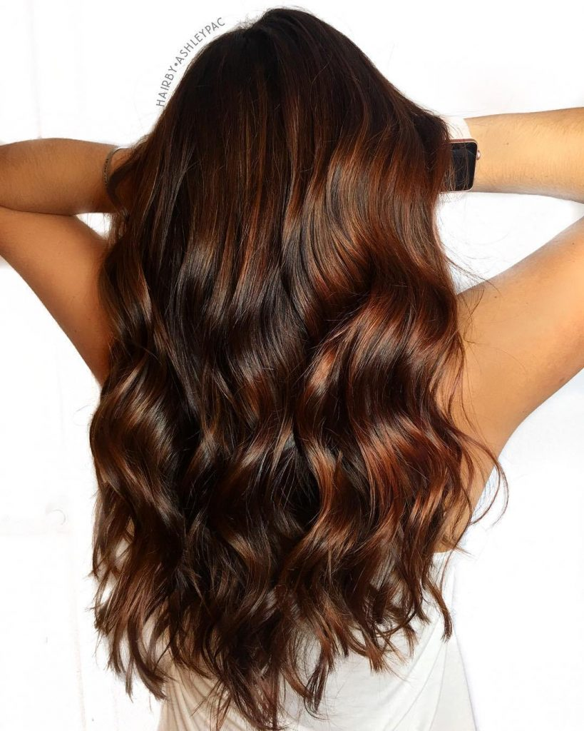Red highlights.